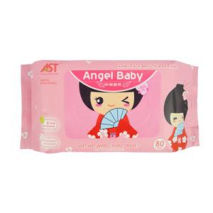 80 pcs de haute qualité coton doux Non-Woven bébé lingette humide