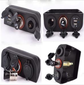 12V-24V Carpa Dual USB Cargador de coche, el encendedor de Sockets, toma de corriente para coches y barcos