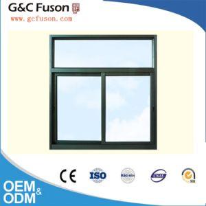 Revestimiento en polvo popular verticales de aluminio Ventana corrediza de vidrio