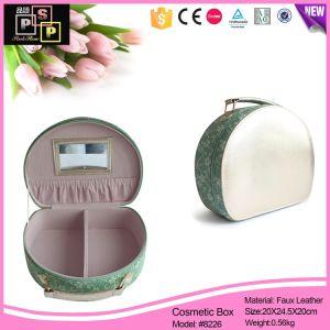 Fashion grain cuir synthétique boîte cosmétiques Boîte de maquillage (8226)