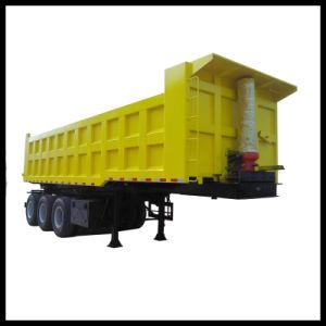 80 toneladas de piedra de transporte de tres ejes Tractor remolque basculante