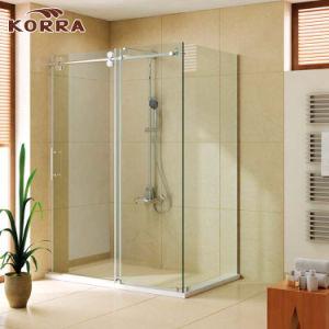 Receptáculo de ducha rectangular / Habitación con rodillos de acero inoxidable