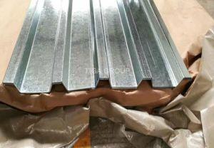 Galvalume ondulé revêtement mural Zinc Aluminium recouvert de feuilles de toit