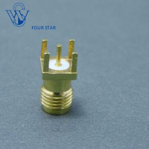 Tomada fêmea para cabo coaxial de RF conector SMA para montagem de PCB