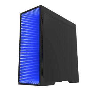 Juegos de torre completa Negro Caja con ventana transparente (M908)