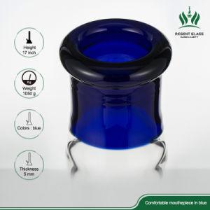 17 gerades Gefäß-grosse Glaspfeife des Zoll Illadelph Art-Blau-60X5mm