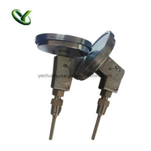 Calibro bimetallico flessibile di temperatura dell'acciaio inossidabile di angolo