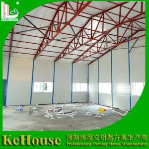 La estructura de acero de la construcción de paneles sándwich de lana de roca casa prefabricada para almacén