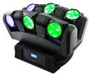 6 hoofden die de Staaf van de Straal met 6PCS*CREE 12W RGBW 4in1 LEDs bewegen
