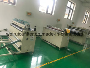 Filtro de óleo combustível pesado de máquina de fazer papel de filtro pregueamento a máquina