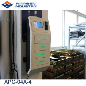 Winnsen Wand-Montierungs-kleiner Handy-Ladestation APC-04A-4 mit 4 Digital-Schließfächern