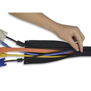 Organizador de cables eléctricos de neopreno flexible la gestión de cables Cable manguito para cubrir