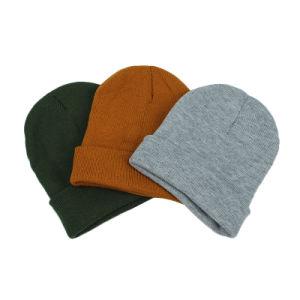 冬の帽子の女性の人の無能のジャージーの帽子によって編まれる暖かい帽子