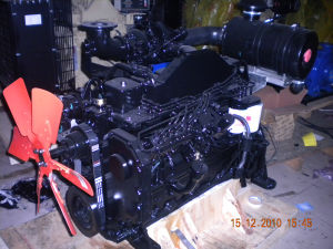 110kw de Dieselmotor 6bt5.9-c van de Bouw van de Waterkoeling Cummins