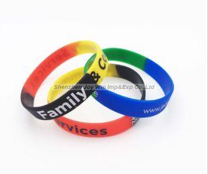 Wristband promozionale del silicone di Segment+Silkscreen, elastico
