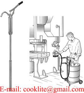 레버 활동 드럼 배럴 디젤유 연료 손 이동 펌프 205L 드럼