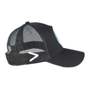 Los hombres llano negro parche bordado gorra de béisbol camionero