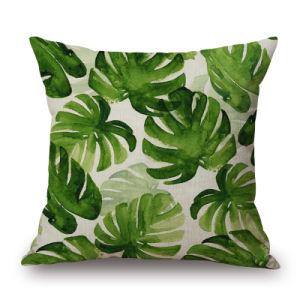 소파 (35C0299)를 위한 열대 식물 45X45 디지털에 의하여 인쇄되는 방석 덮개