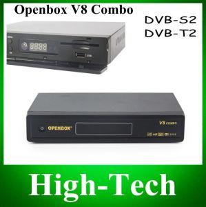 Combo Openbox original V8 Receptor de satélite DVB-S2+DVB-T2 suportam Cccamd Youporn Newcamd Youtube Google Map Dlna WiFi USB