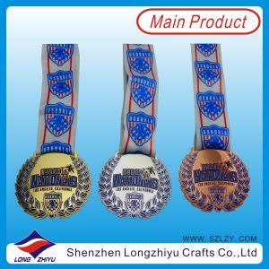 オーストラリアNational Medal Metal Baseball MedalsおよびRibbon (LZY00018)のMedallion Trophies Cheap Sports Medal