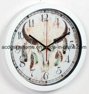 Orologio di parete circolare di plastica decorativo bello curativo spiritoso della piuma dell'antilope