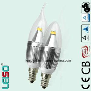 Chip CREE 5W E14/B15 Scob Bombilla de luz de vela (LS-B305-SB)