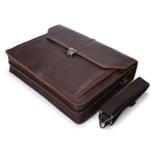 De Cuero Vintage Messenger bolsas para portátiles maletín para hombres