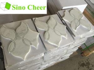 El mármol blanco Mosaico de chorro de agua precio para la decoración de interiores