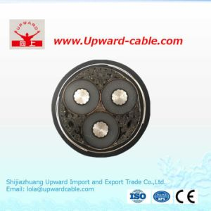 Высокое напряжение один медный провод бронированных XLPE кабель