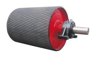 Belt Conveyor Machineryのためのゴム製Lagging Pulley