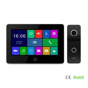 HDのメモリタッチ画面ビデオドアの電話通話装置7インチのホームセキュリティーの