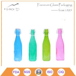 bottiglia di vetro della parte superiore dell'oscillazione 500ml con la pittura di colore