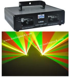 Диско двойной RGY освещения дальнего света лазера
