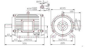 800W 250rpm Rare Earth Magnetic Generator per Wind Turbine