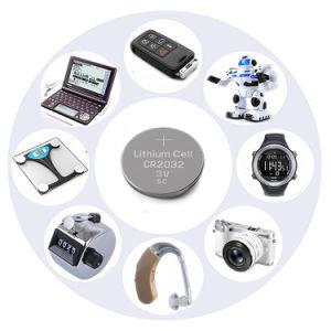 Non-Rechargeable CR2032 3V 210mAh Batería de Litio Pila de botón
