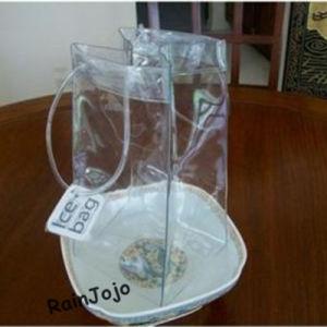 Vin de PVC Sac, Sac de glace en plastique