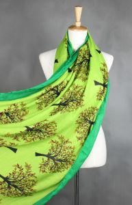 Senhora Fashion Algodão poliéster viscose impresso lenço de seda (YKY1022)