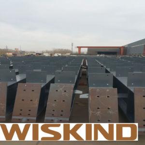 La estructura de acero de alta resistencia de materiales de construcción con vigas de acero
