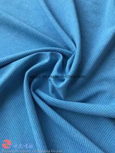 Jacquard Elastano Poliéster listrado catiónicos tecido stretch para roupa