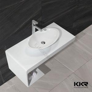 さまざまなサイズイタリアデザイン樹脂の石の浴室は流しを壁ハングさせた