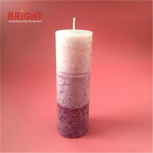 Três Camadas Rosa Pilar altas rústico velas para mercado High-End