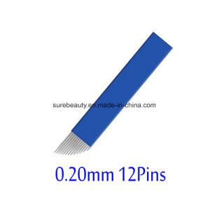 OEM 12の針ピン構成の眉毛の入れ墨の手動Microbladingの生殖不能の刃