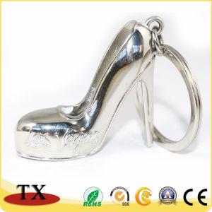 Bonne recherche Lady's High-Heeled Chaussures Alliage de zinc métallique de forme de chaîne de clé