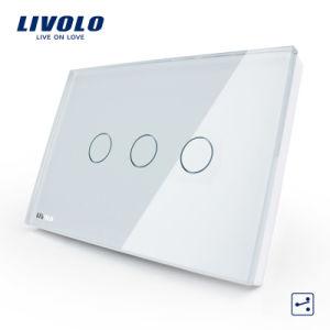 Commutateur léger de mur de panneau de contact de contrôle de voie de la maison 2 de Livolo (VL-C303S-81/82)