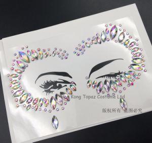 De Partij van het festival maakt omhoog het Bergkristal van de Gemmen van het Gezicht de Stickers van de Tatoegering van het Lichaam van Juwelen onder ogen zien (S025)