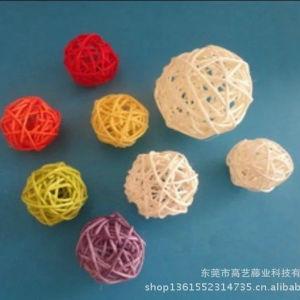 Venta caliente de la bola de junco tejido popularmente para decoración de boda