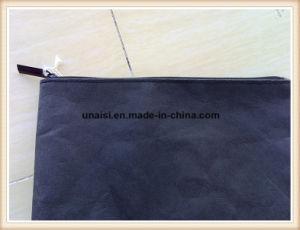 Lavable ecológica de la bolsa de maquillaje de papel Kraft con cremallera