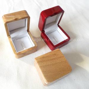 Caixa de jóia de madeira da pintura lustrosa elevada Handmade/caixa anel do presente