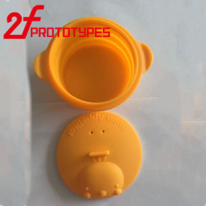 CNC rapido di girata per le parti colorate del silicone