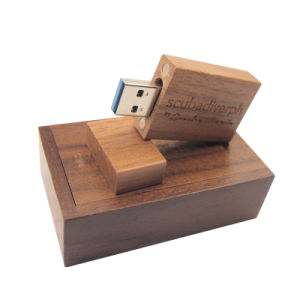 Logotipo personalizado de Madera Natural de la unidad flash USB Pen Drive 3.0 Madera+Caja de regalo